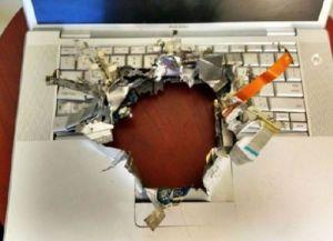 Broken laptop repair